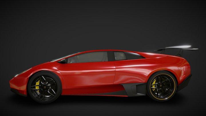 Lamborghini Murciélago LP-670 SV 3D Model