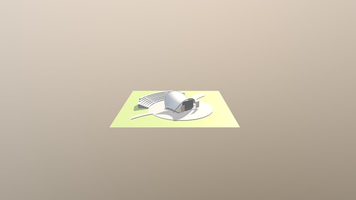 Stalowa Wola - amfiteatr 3D Model