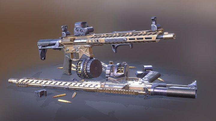 AR15 Gun 3D Model