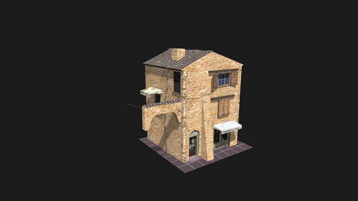 House_1_City_Scene 3D Model