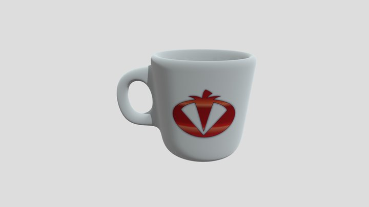 The League Of Incredible Vegetables Mug 3D Model