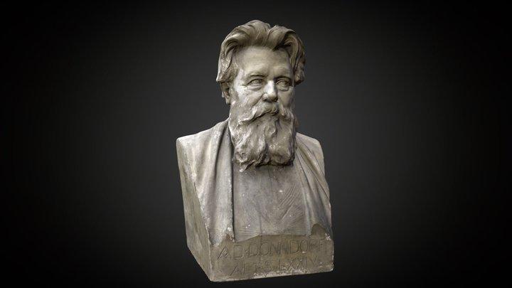 Bust Adolf von Donndorf (1835-1916) 3D Model