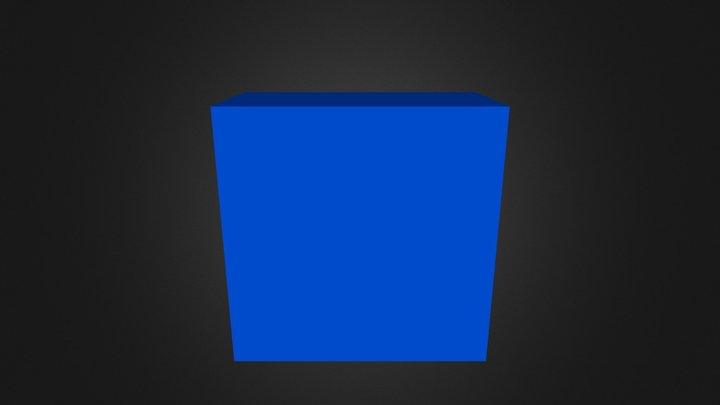 Puzzle Cube Blue Website 3D Model