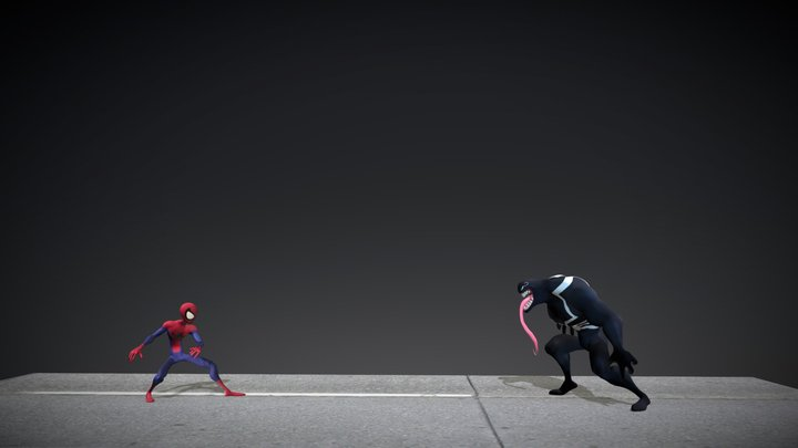 Spidey_v_Venom 3D Model
