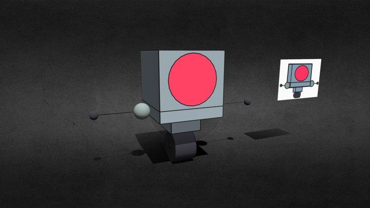 Dr. Fox robot 3D Model