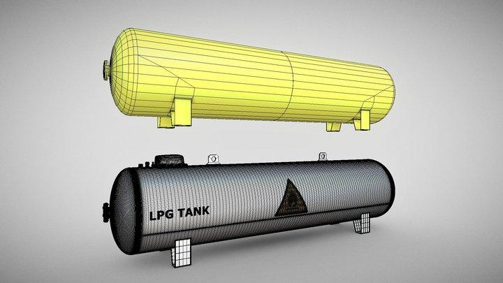 Low-Poly LPG Tank (Wip-1) 3D Model