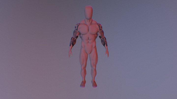 anatomy bodybuilder 3D Model