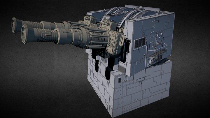 Death Star XX-9 Turbolaser 3D Model