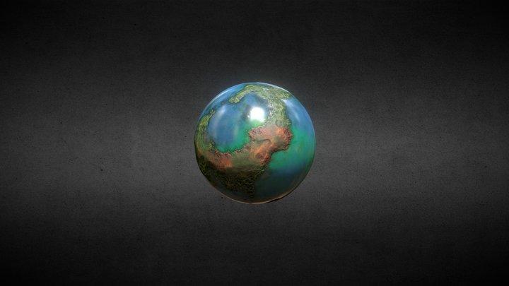 Paradise planet 3D Model