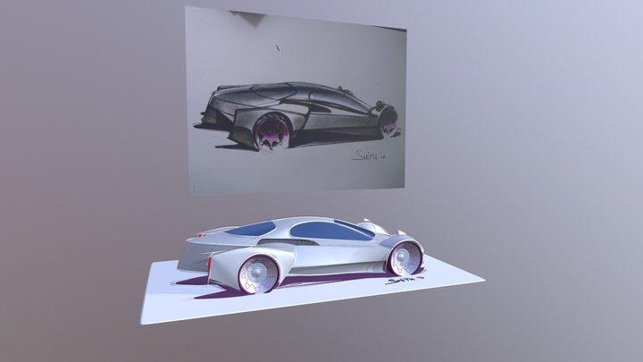 Gravity Sketch VR - interpret old sketch into 3D 3D Model