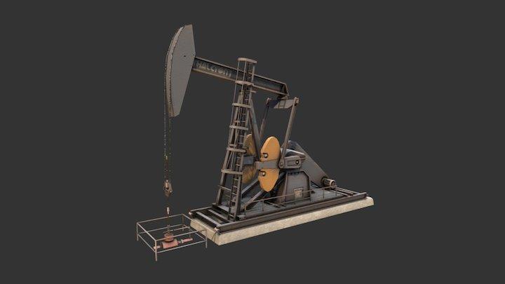 Pump Jack 2 3D Model
