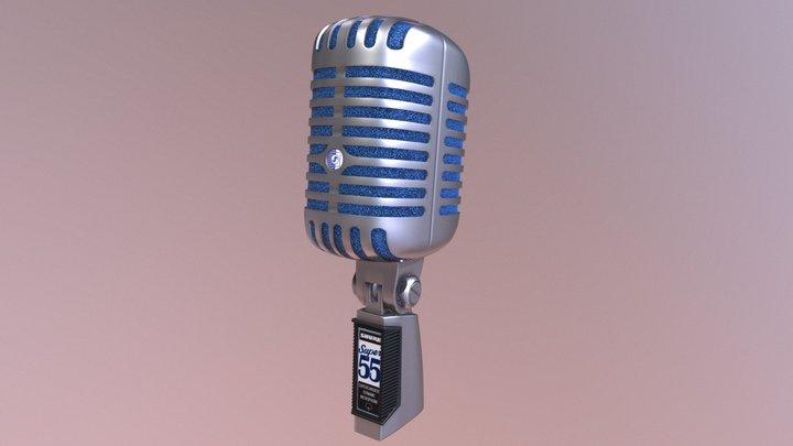 Shure Super 55 Delux Microphone 3D Model