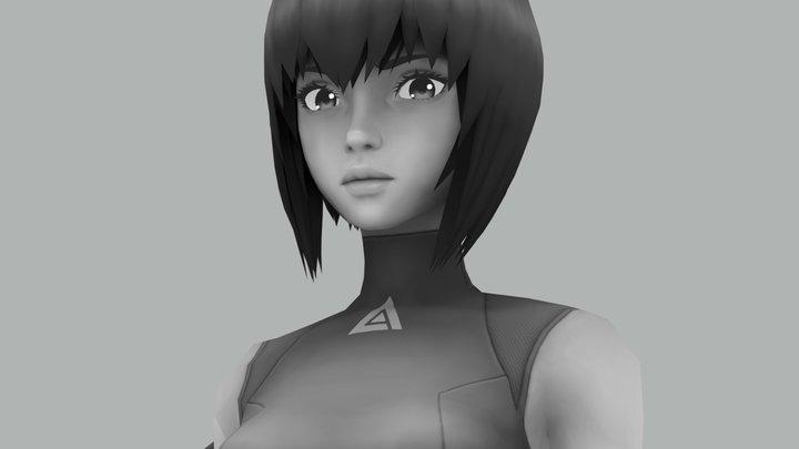 Motoko Kusanagi. WIP 3D Model