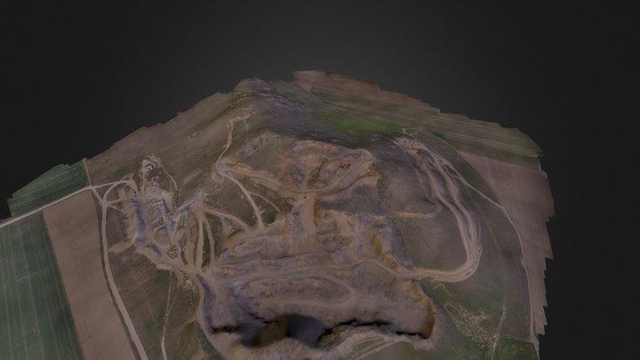 Mining granite in Tulcea County 3D Model