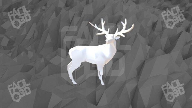 Ciervo Low Poly v2 3D Model