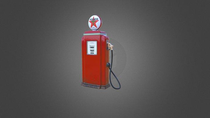 Vintage Gas Pump 3D Model