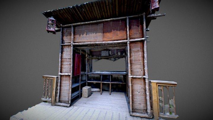 Japanese Bamboo Hut 3D Model