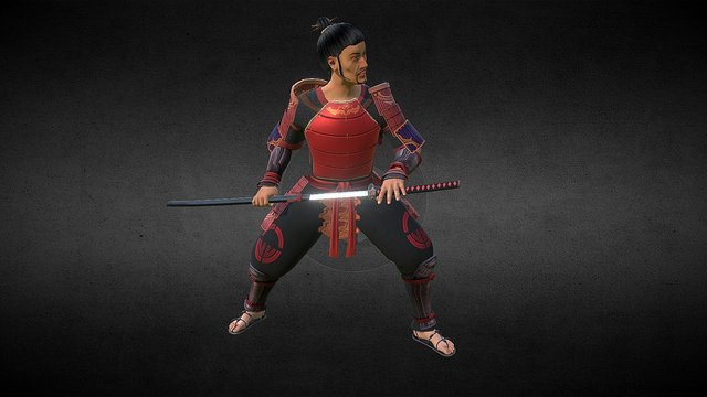 Kiyomi the Ronin 3D Model