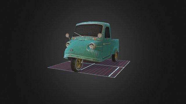 Daihatsu Midget Trimobile 3D Model