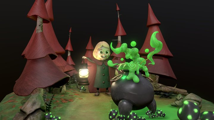 Witch Forest 3D Model