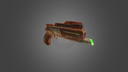 Pistol (Oxid) Low Poly 3D Model
