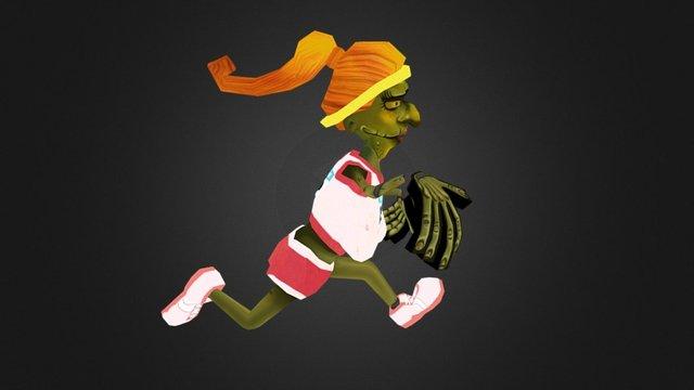 "Zombie ""Girl"" 3D Model"