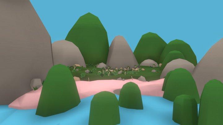 Hopi Island 3D Model