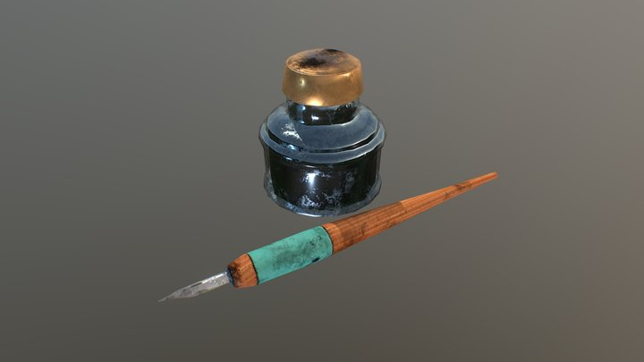 Inking Tools 3D Model