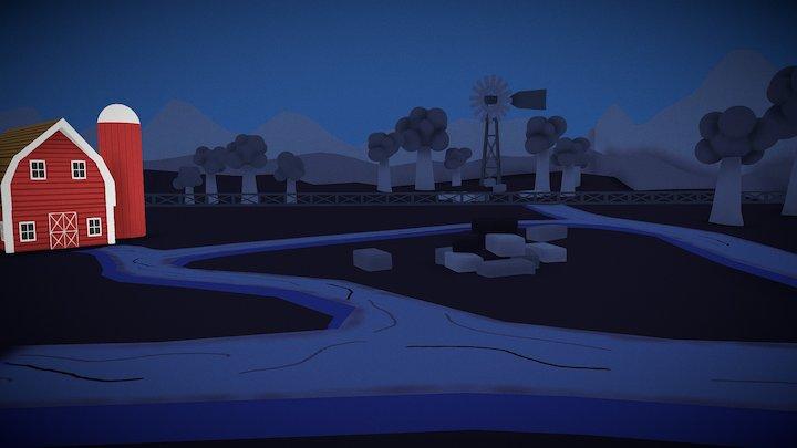 The Farm 2 (Minimalism Scene) 3D Model