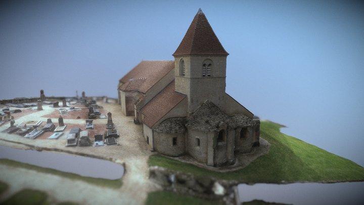 Eglise de Saint Saturnin - Reulle Vergy 3D Model
