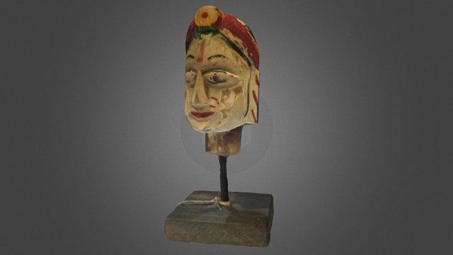 Antique Wooden Puppet Head 3D Model