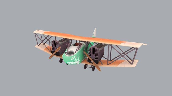 Stylized plane - AEG G.IV 3D Model