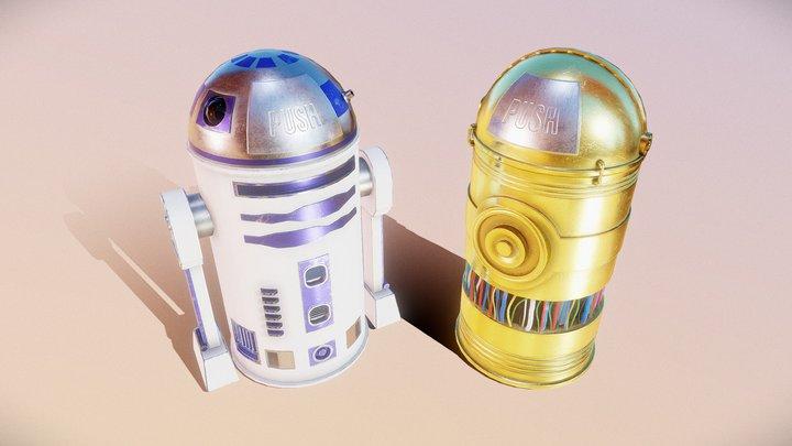 Star Wars Trashcan 3D Model