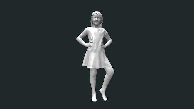 Girl- Scan- Clean2 04 Low 3D Model