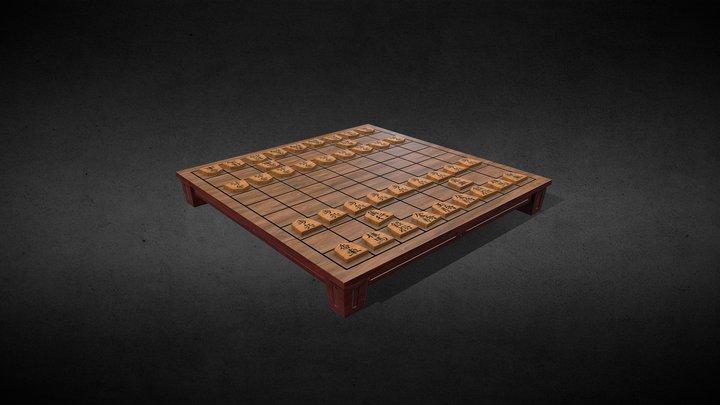 Shogi Board 3D Model