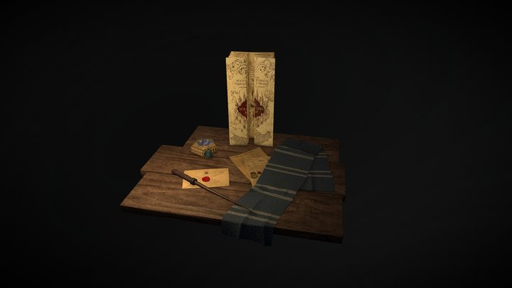 Hogwarts scene 3D Model