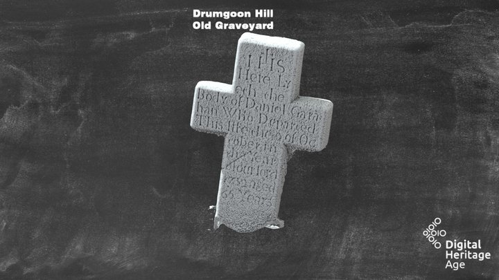 Drumgoon Hill - Old Graveyard Headstone 474 3D Model