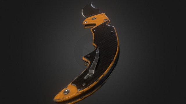 Falchion Knife 3D Model