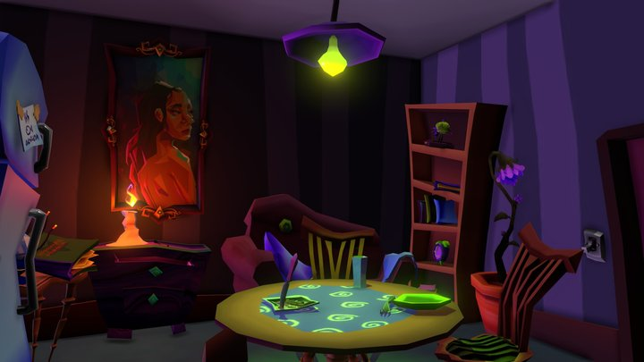 Janky Witch's Apartment 3D Model
