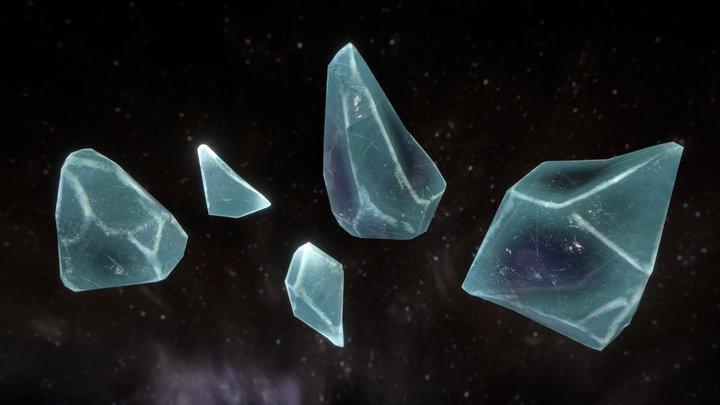 Ice Chunks 3D Model