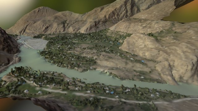 Town and Erosion Patterns 3D Model