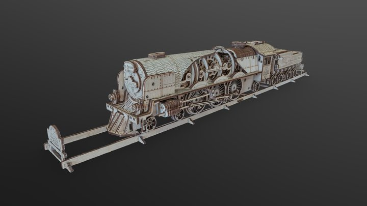 Plywood Train 3D Model
