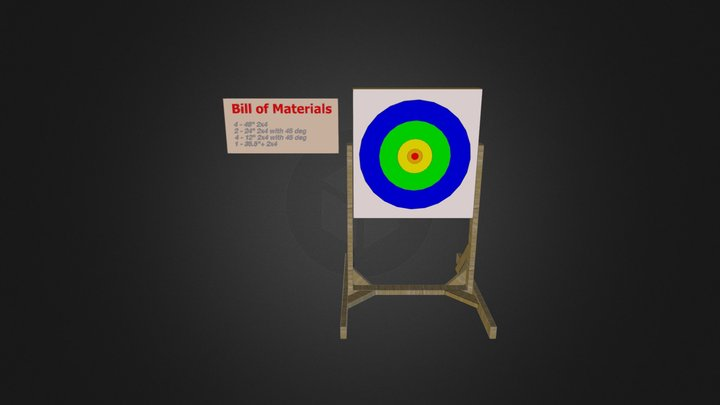 Target Frame 3D Model