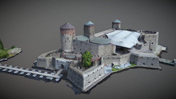 Olavinlinna - Olaf's Castle 3D Model