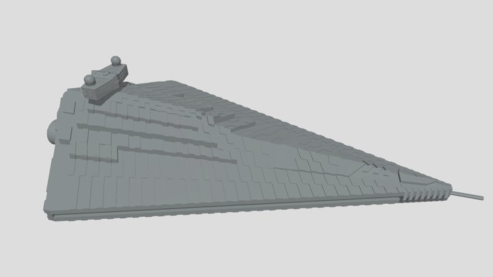 Xyston Star Destroyer Redesign 3D Model