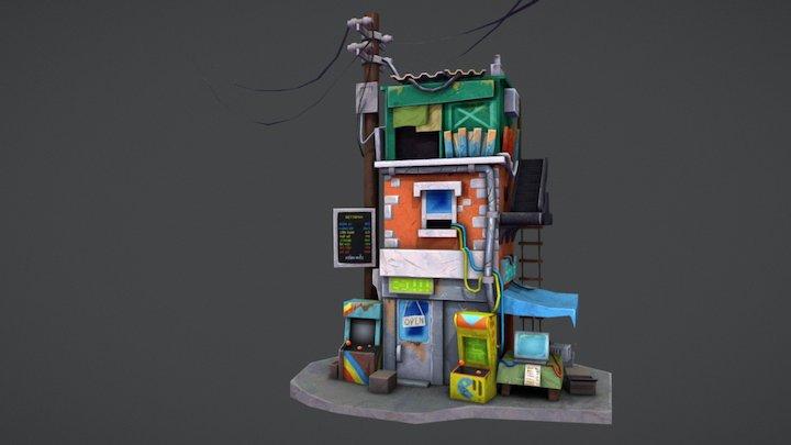 BITBOT TRANNING-Retro Postapo Building 3D Model