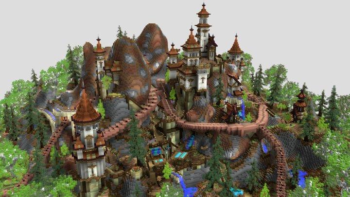 Progressive Antique City 3D Model