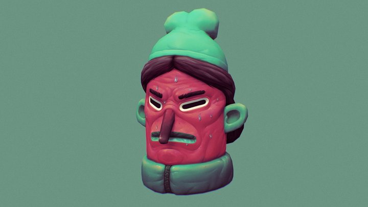 Guy with the green hat 3D Model