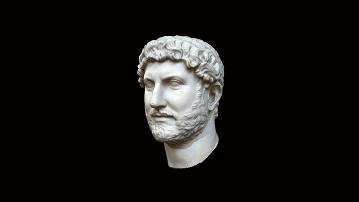 Head from a bust of Hadrian 3D Model