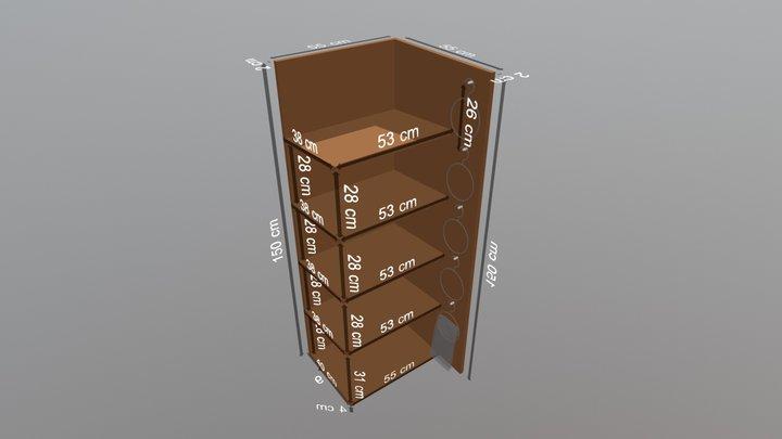 Fancy Scarf Shelf Measurements x6 3D Model